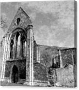Valle Crucis Abbey Monochrome Canvas Print