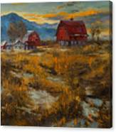 Valley Farm Sunset Canvas Print