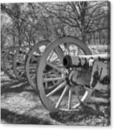 Valley Forge Battery Blackened White Canvas Print