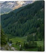 Valley In The French Alps Canvas Print