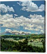 Valley In The Rockies Canvas Print