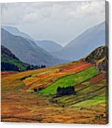 Valley Of Colors Canvas Print