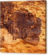 Valley Of Fire Ancient Petroglyphs Canvas Print