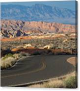 Valley Of Fire State Park Rainbow Vista Canvas Print