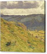Valley Of The Teme, A Sunny November Morning Canvas Print