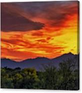 Valley Sunset H33 Canvas Print