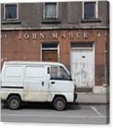 Van And Shop Canvas Print