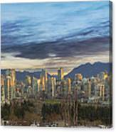 Van City Sunrise Canvas Print