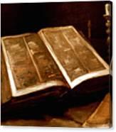 Van Gogh: Bible, 1885 Canvas Print