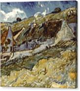 Van Gogh: Cottages, 1890 Canvas Print