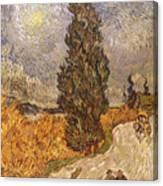 Van Gogh: Cypresses, 1889 Canvas Print