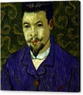 Van Gogh: Dr Rey, 19th C Canvas Print