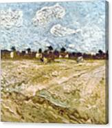 Van Gogh: Fields, 1888 Canvas Print