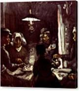 Van Gogh: Meal, 1885 Canvas Print