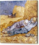 Van Gogh: Noon Nap, 1889-90 Canvas Print