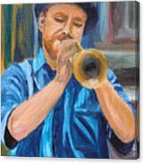 Van Gogh Plays The Trumpet Canvas Print