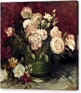 Van Gogh: Roses, 1886 Canvas Print