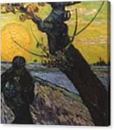 Van Gogh: Sower, 1888 Canvas Print