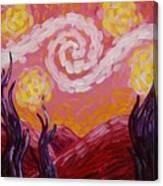 Van Gogh Sunset Canvas Print