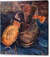 Van Gogh: The Shoes, 1887 Canvas Print