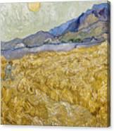 Van Gogh: Wheatfield, 1889 Canvas Print