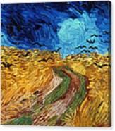 Van Gogh: Wheatfield, 1890 Canvas Print