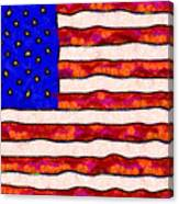 Van Gogh.s Starry American Flag Canvas Print