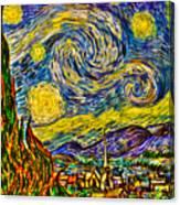 Van Gogh's 'starry Night' - Hdr Canvas Print