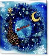 Van Gogh's Starry Night Wreath Canvas Print