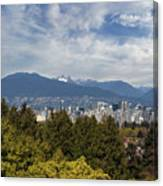 Vancouver Bc Skyline Daytime View Canvas Print