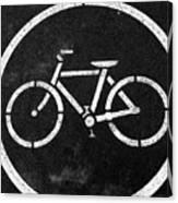Vancouver Bike Lane- Art By Linda Woods Canvas Print