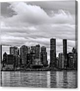 Vancouver In Black And White. Canvas Print