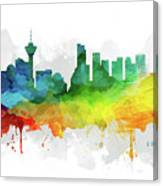 Vancouver Skyline Mmr-cabcva05 Canvas Print
