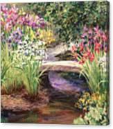 Vandusen Garden Iris Bridge Canvas Print