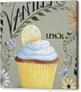 Vanilla Lemon Cupcake Canvas Print