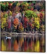 Vanishing Autumn Reflection Landscape Canvas Print
