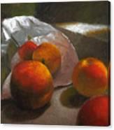 Vanzant Peaches Canvas Print