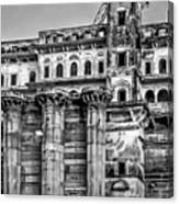 Varanasi Bw Canvas Print