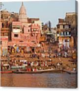 Varanasi From Ganges River Canvas Print