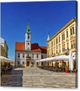 Varazdin Main Square, Croatia Canvas Print