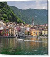 Varenna Italy Old Town Waterfront Canvas Print