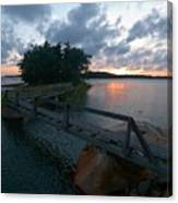 Variations Of Sunsets At Gulf Of Bothnia 6 Canvas Print