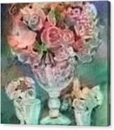 Vase Full Of Roses Canvas Print