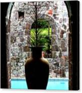 Vase In A Window Canvas Print