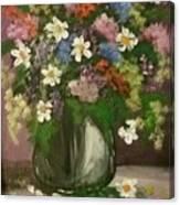 Vase Of Flowers #1 Canvas Print