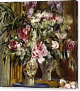 Vase Of Flowers, 1871  Canvas Print