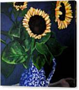 Vase Of Sunflowers Canvas Print