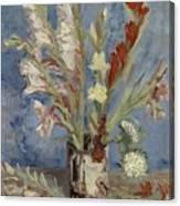 Vase With Gladioli And Chinese Asters Paris, August - September 1886 Vincent Van Gogh 1853  1890 Canvas Print