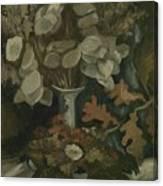 Vase With Honesty Nuenen, Autumn - Winter 1884 Vincent Van Gogh 1853  1890 Canvas Print