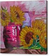 Vases With Flowers Canvas Print